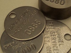 Metal Tags Steel Stainless ID Cremation
